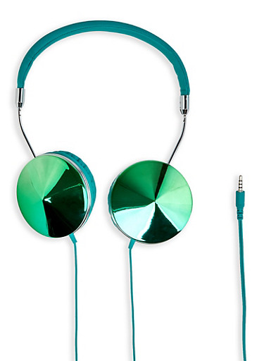 Iridescent Shimmer Headphones | 1120066846666,TURQUOISE,large