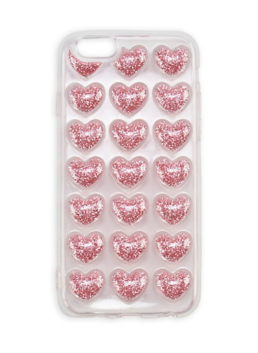 Glitter Hearts iPhone 6 Case at Rainbow Shops in Columbia, TN | Tuggl