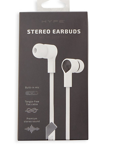 Stereo Earbuds,BLACK,large