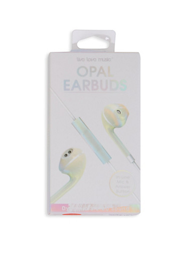Opal Earbuds,WHITE,large