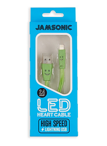 iPhone LED High Speed USB Charge Cable,GREEN,large