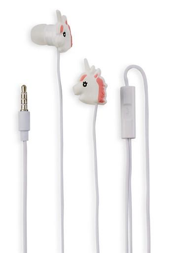 Unicorn Earbuds,WHITE,large