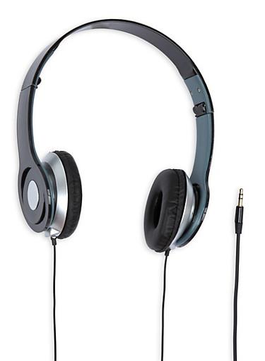 Foldable Stereo Headphones,BLACK,large