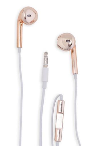 Metallic Earbuds,ROSE,large