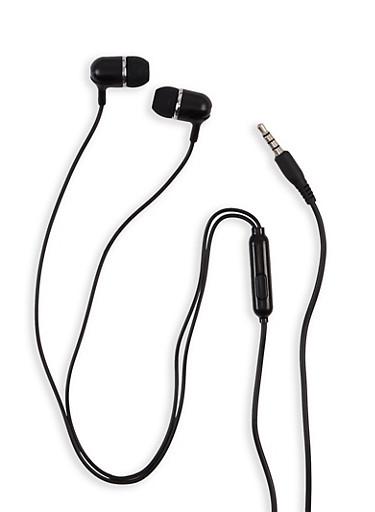 Tangle Free Earbuds,BLACK,large