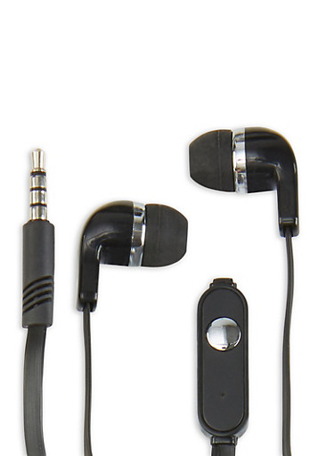 Universal Stereo Earbuds,BLACK,large