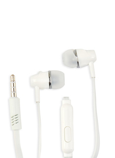 Universal Stereo Earphones,WHITE,large
