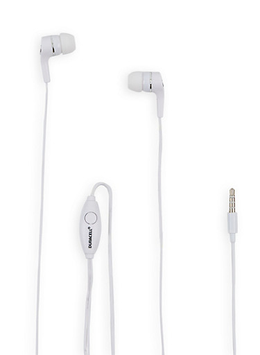 Duracell Earbuds with Mic,WHITE,large