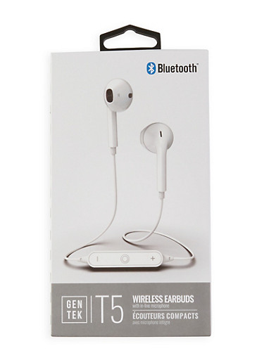 Bluetooth Wireless Earbuds,WHITE,large