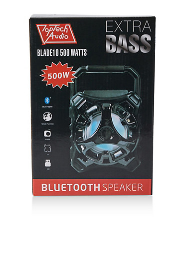 Extra Bass Bluetooth Speaker | 500W,BLACK,large
