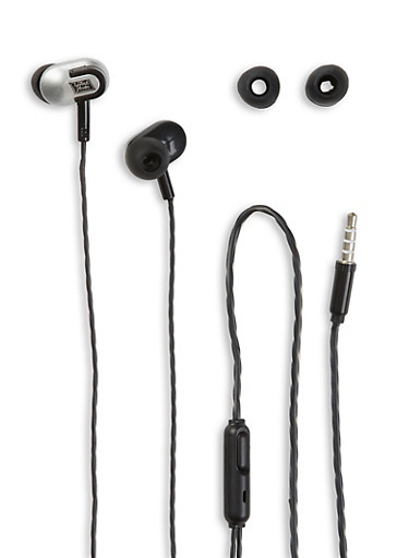 Stereo Push In Earbuds,BLACK,large