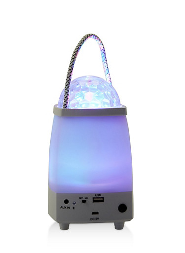 LED Bluetooth Speaker,WHITE,large