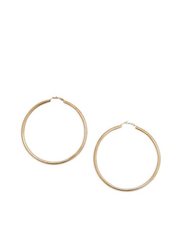 Jumbo Hoop Earrings Gold Large