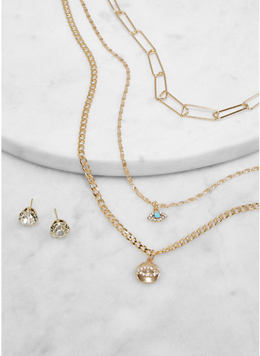 New Charm Dangles NECKLACE /& EARRINGS Cara New York Fashion Brand Bead Studded NWT/'s 36 Inches long adjustable Chain Double able Ships Free!