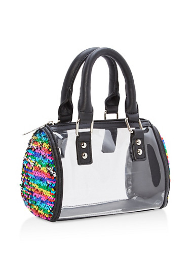 Clear Reversible Sequin Detail Handbag | Tuggl