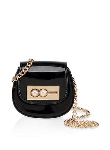Mini Jelly Crossbody Bag,BLACK,large