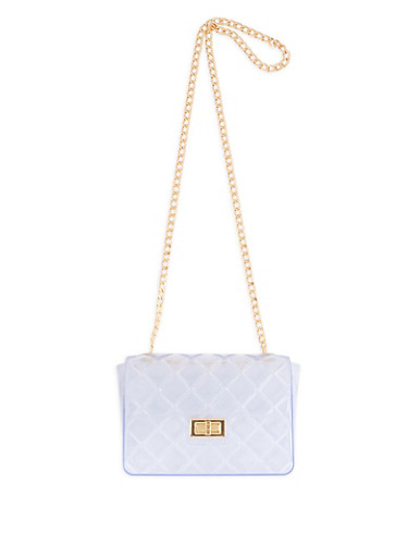 Quilted Jelly Clear Crossbody Bag - 1124061596920