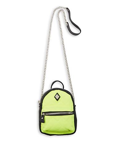 Mini Backpack Crossbody Bag,YELLOW,large