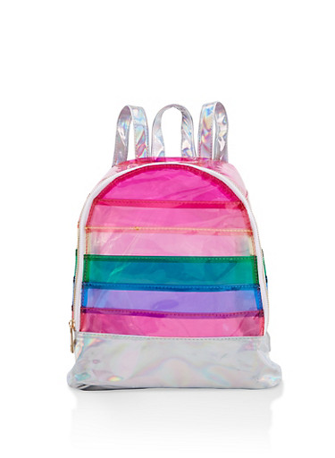 Clear Rainbow Backpack,MULTI COLOR,large