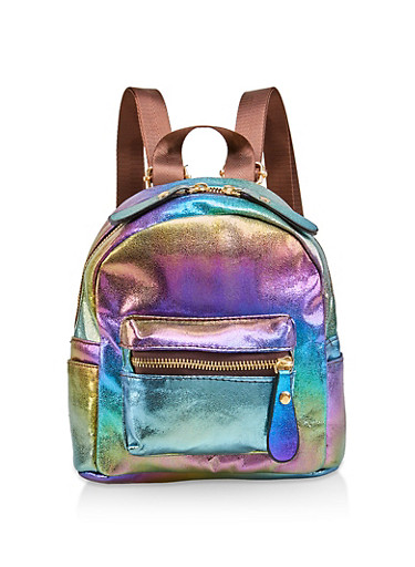 Mini Iridescent Backpack,MULTI COLOR,large