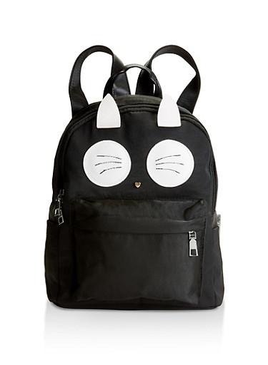 Cat Ear Backpack,BLACK,large