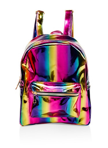 Iridescent Rainbow Backpack,MULTI COLOR,large