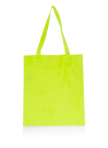 Iridescent Tote Bag,LIME,large