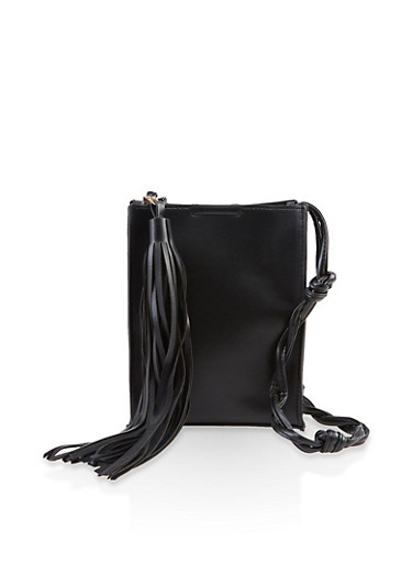 Twist Crossbody Strap Bag,BLACK,large
