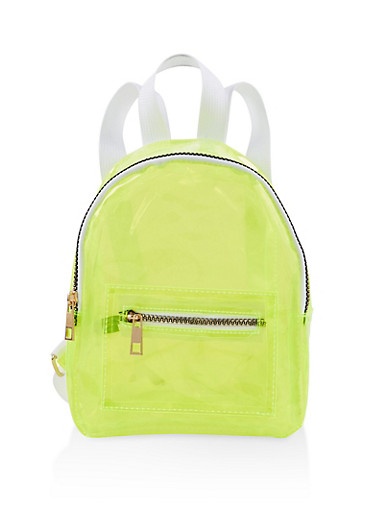 Small Neon Backpack,LIME,large