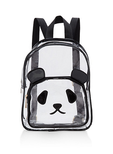 Clear Panda Backpack | Tuggl