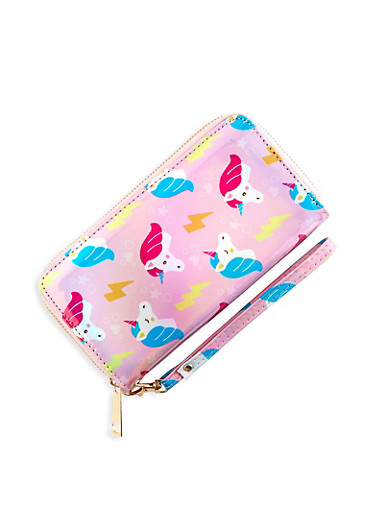 Holographic Unicorn Wallet,PINK,large
