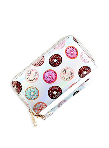 Holographic Donut Wallet,SILVER,large