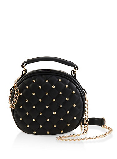 Round Studded Crossbody Bag by Rainbow