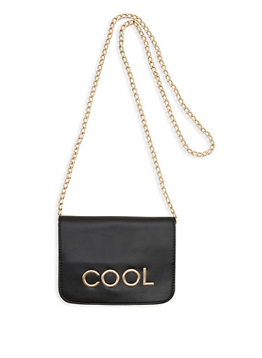 Cool Faux Leather Clutch,BLACK,large