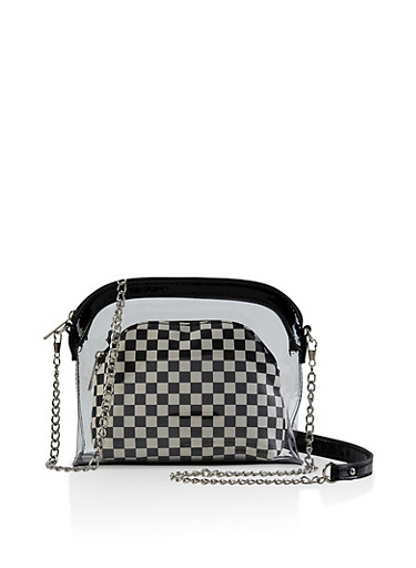 Two Piece Crossbody Bag,BLACK,large