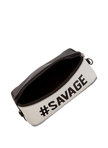 Savage Square Crossbody Bag,BLACK/WHITE,large