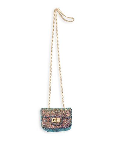 Mini Glitter Crossbody Satchel,MULTI COLOR,large