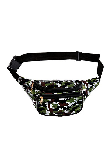 Camo Fanny Pack,OLIVE,large