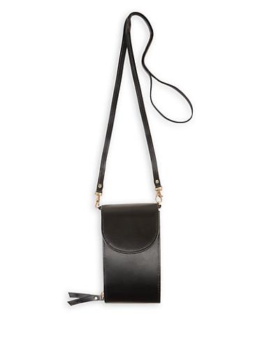 Accordion Crossbody Bag,BLACK,large