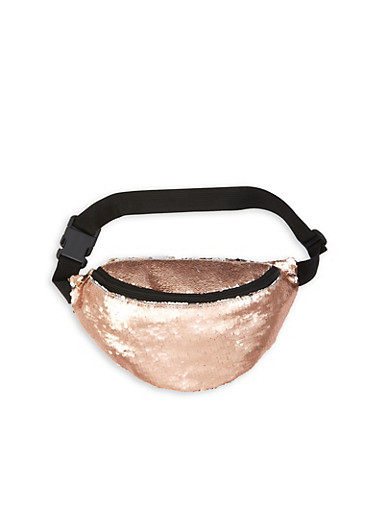 Reversible Sequin Fanny Pack | 1126067445908,ROSE,large