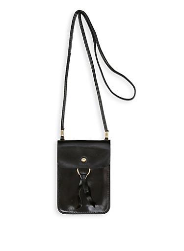 Rectangular Crossbody Bag,BLACK,large