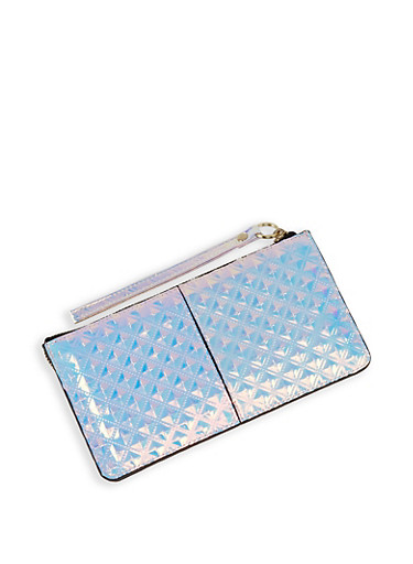 Holographic Prism Wallet,SILVER,large