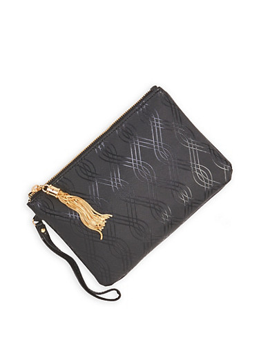 Patterned Faux Leather Clutch | Tuggl