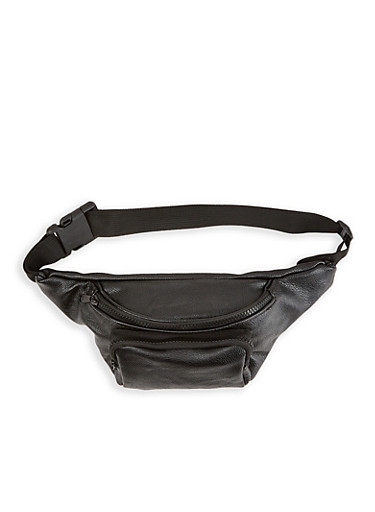 Double Zip Fanny Pack | 1126067448121,BLACK,large