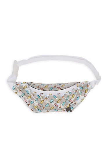 Clear Ice Cream Fanny Pack,YELLOW,large