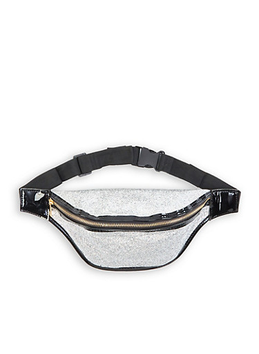 Glitter Fanny Pack | 1126067449019,SILVER,large