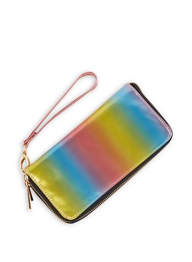 Multi Color Zip Wallet,MULTI COLOR,large