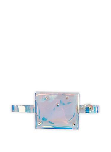 Mini Iridescent Envelope Belt Bag,MULTI COLOR,large