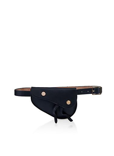 Asymmetrical Belt Bag,BLACK,large