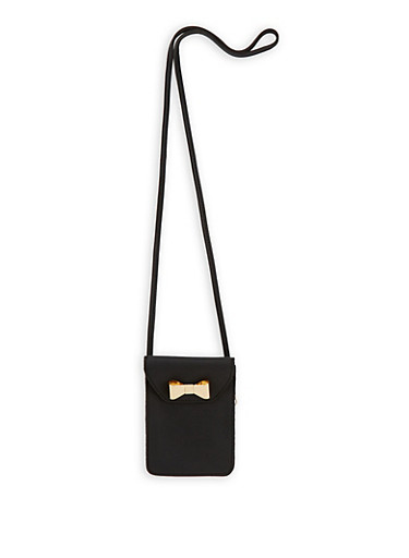 Faux Leather Crossbody Bag,BLACK,large